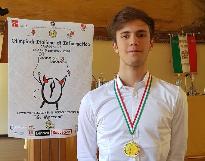 Federico Stazi: campione olimpiadi italiane di informatica, Campobasso 2018