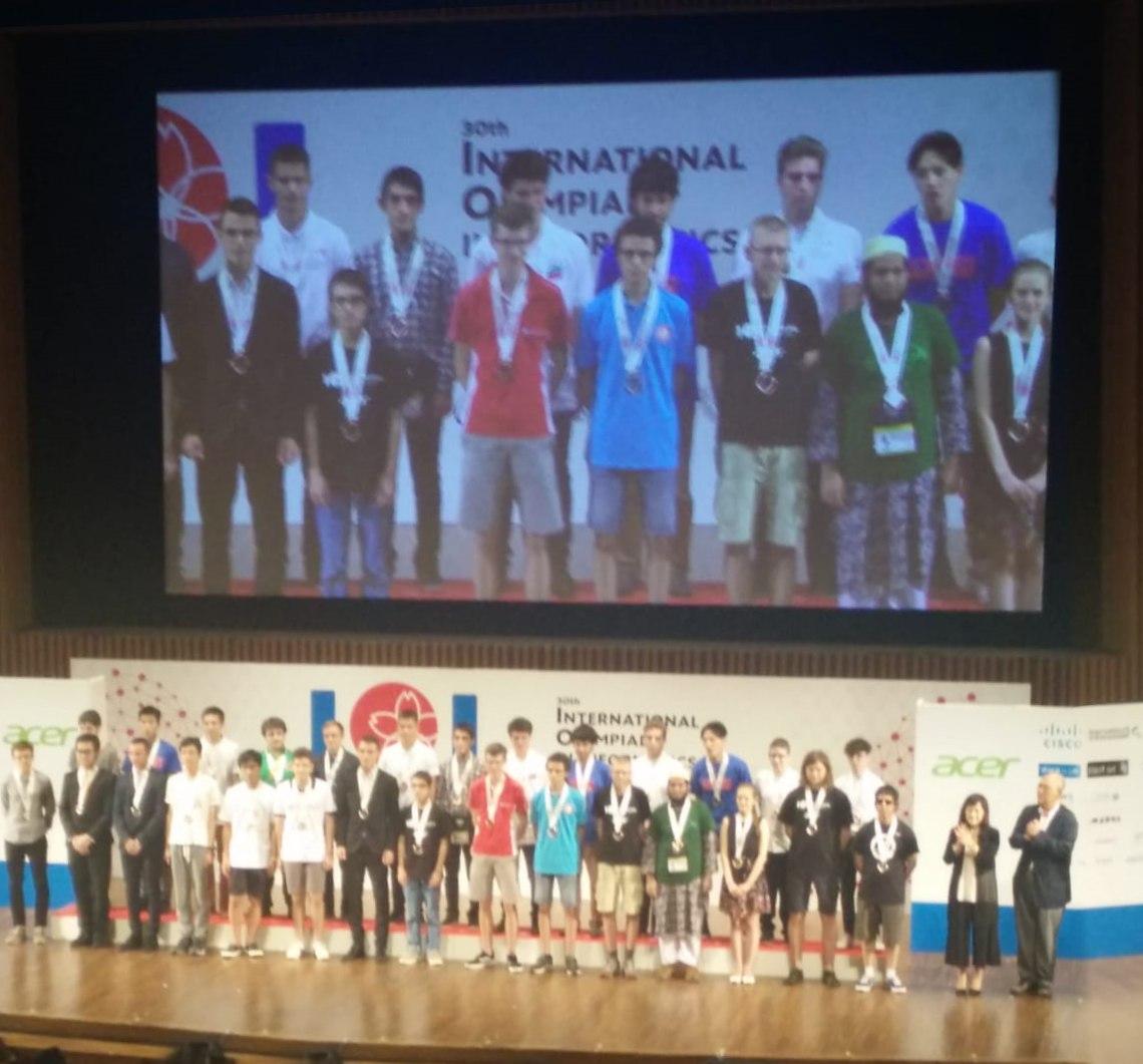 Premiazione, IOI 2018, Giappone
