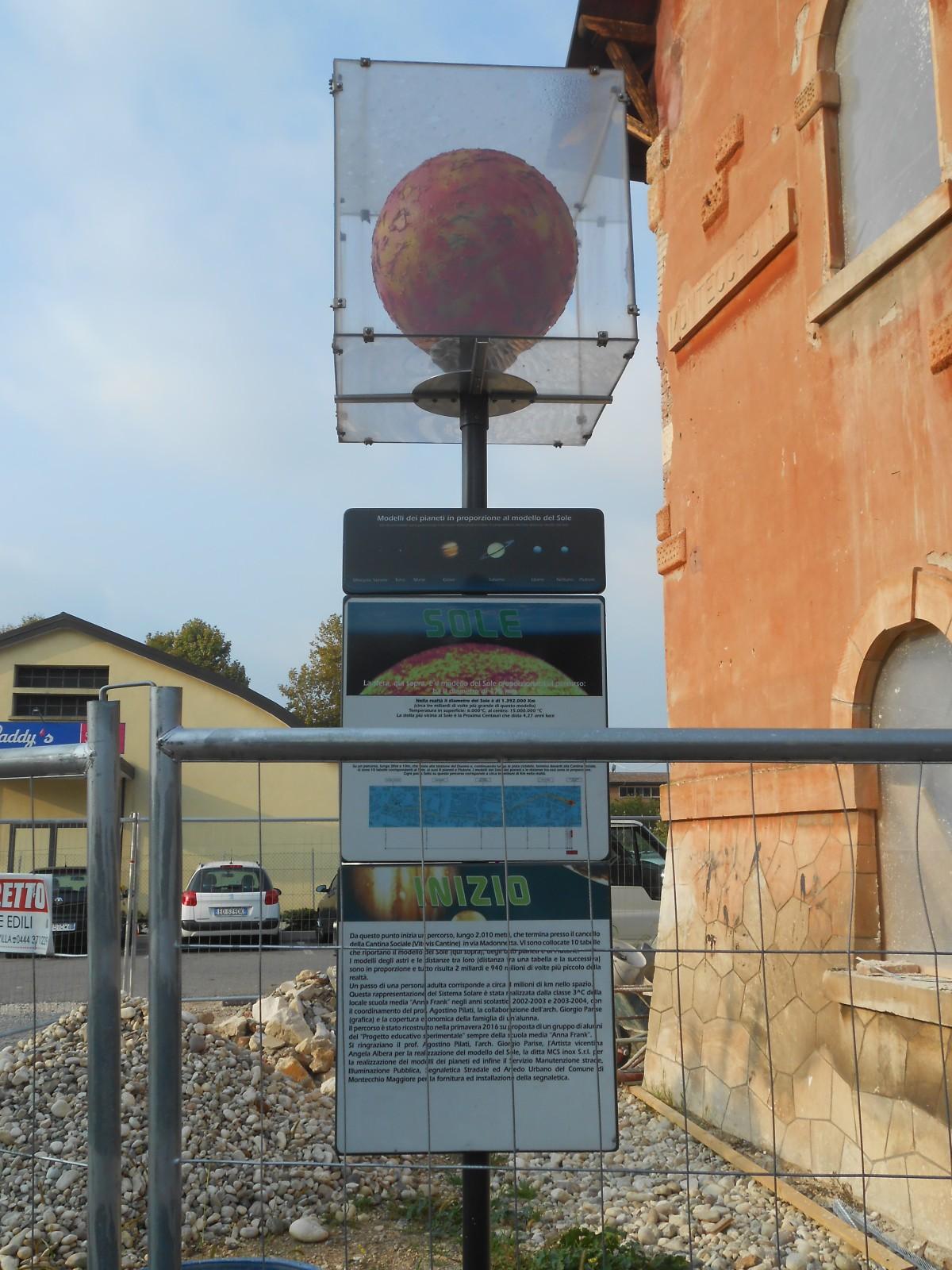 sistema solare: sole (Montecchio Maggiore)